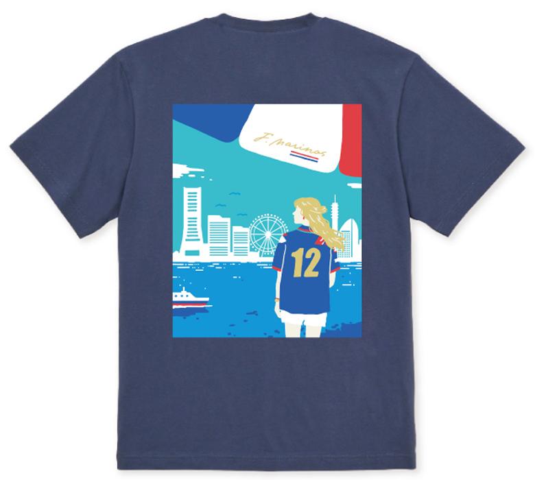 YOKOHAMA グラフィックバックプリントTシャツ