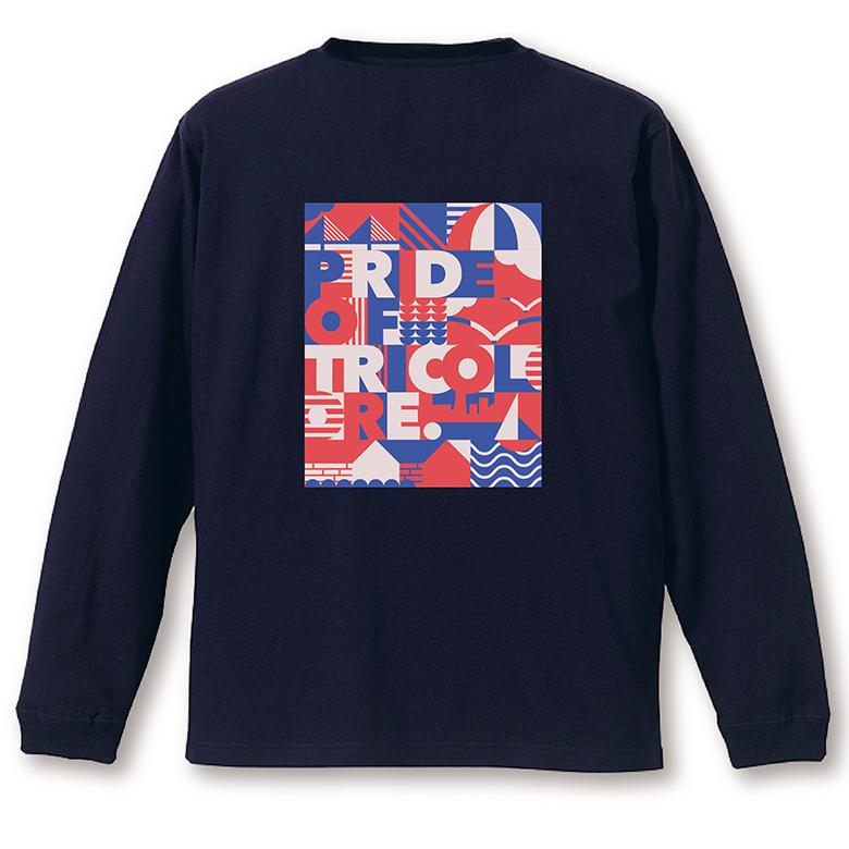 YOKOHAMA グラフィック ロングTシャツ ネイビー
