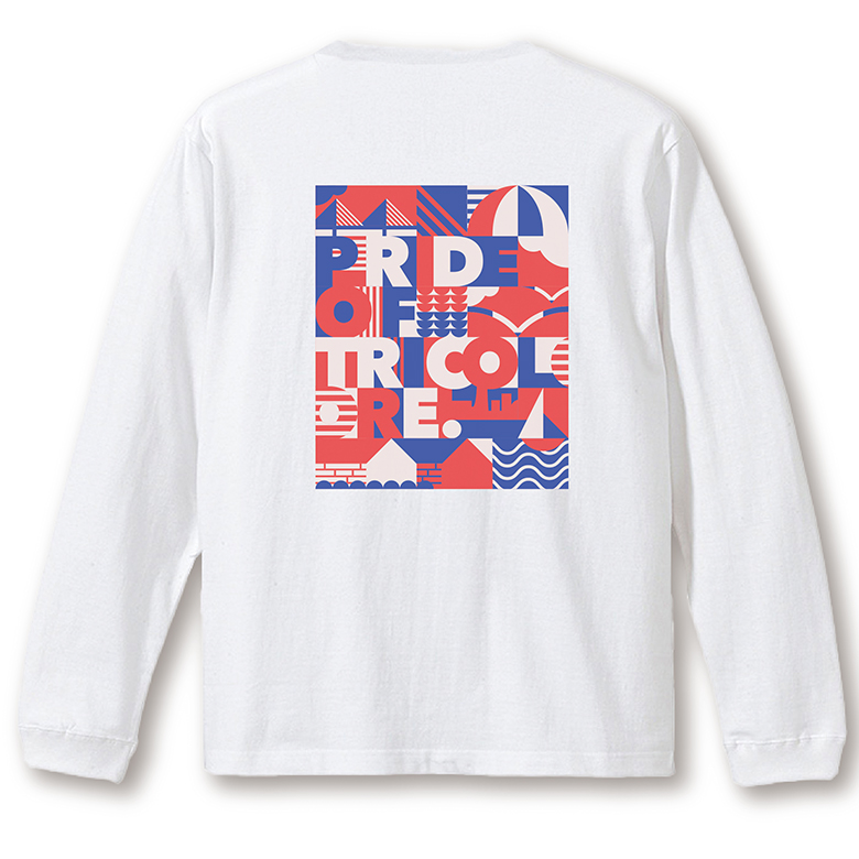 YOKOHAMA グラフィック ロングTシャツ ホワイト