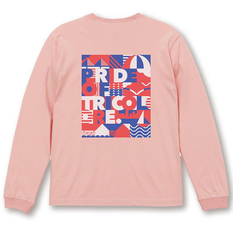 YOKOHAMA グラフィック ロングTシャツ ピンク